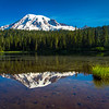 Rainier Reflection Morning Mist