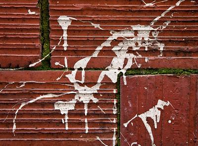 Bricks & Paint Splatter, Petaluma, 2010