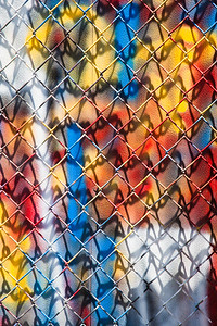 Fence & Shadow with Primary Colors, Berkeley, 2015
