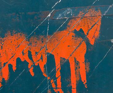 Red Horse Paint Splatter, Paris, 2013