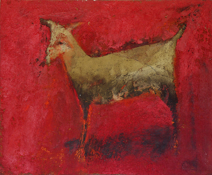 little goat - cabrita<br /> oil/earth on canvas<br /> 46cm x 38cm<br /> sold