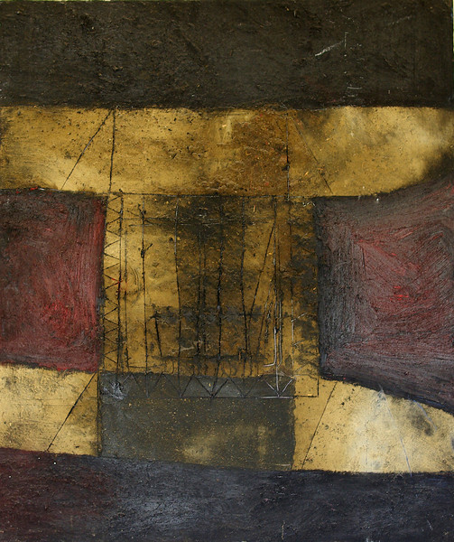 untitled - sin titular<br /> oil/earth on canvas<br /> NFS
