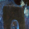 blue arch - arco azul<br /> oil /earth on canvas<br /> 55cm x 46cm