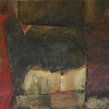 the bed - la cama<br /> oil/earth on canvas<br /> 55cm x 46cm 400 pounds