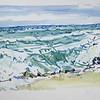 "Turbulence at Blowing Rocks, 7 25"" x 16"", acrylic on paper"
