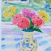 Summer Luminance, 9 25x6, acrylic on paper