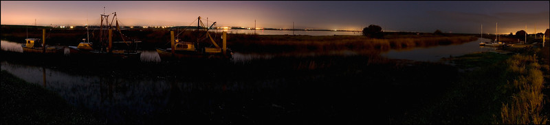<center>South Bay Yacht Club, Alviso, 2:00 a.m. (9 images stitched)</center>