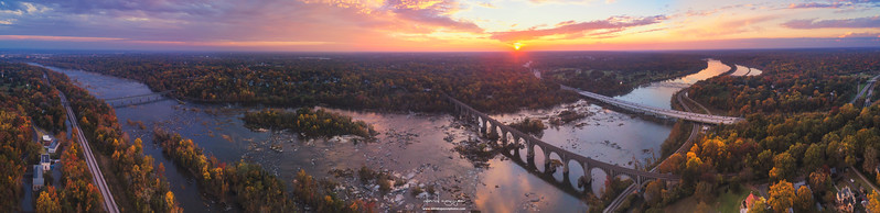James River railroad bridge