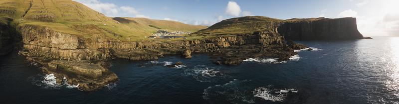 Vágseidi, Faroe islands Panorama