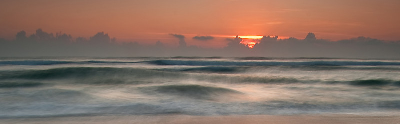 High surf during a Cocoa Beach sunrise