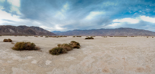 Clark Dry Lake in the Anza-Borrego Desert State Park of southern California