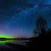 Aurora and Milky Way over Pioneer Lake 01