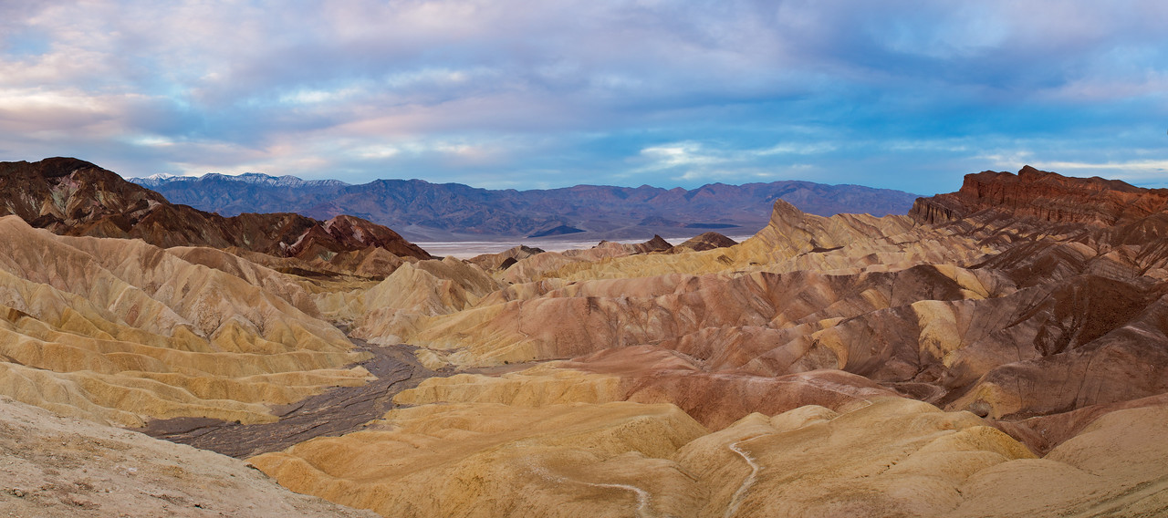 """Stormy Sunrise at Zabriskie"" - Death Valley National Park, CA"