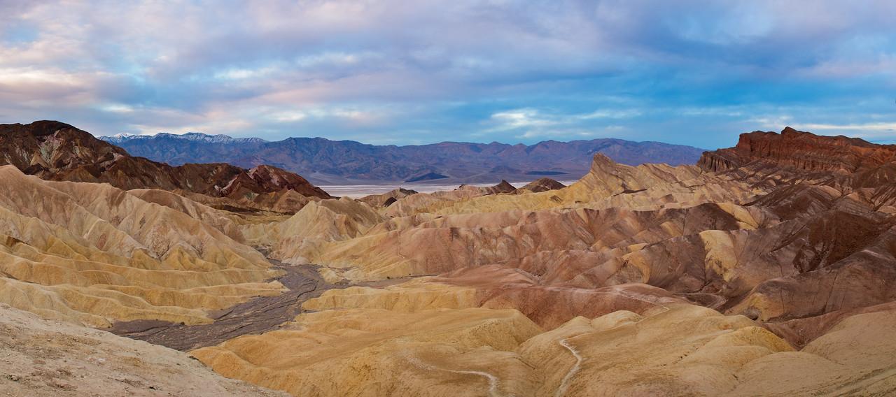 """Stormy Sunrise at Zabriskie"" - Death Valley National Park, CA"