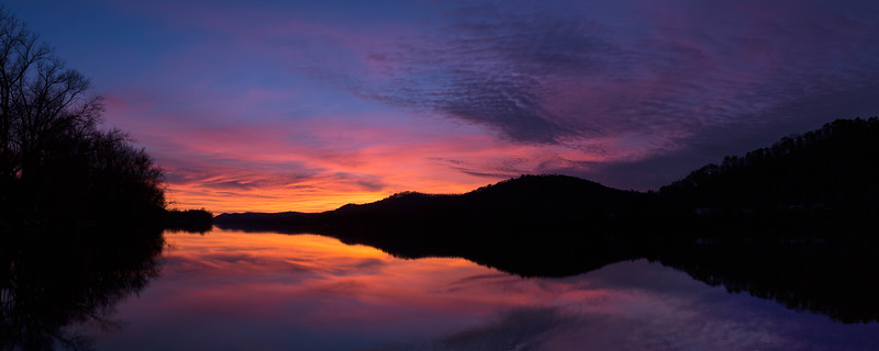 Ohio River Sunset PC 3499-3505 PS