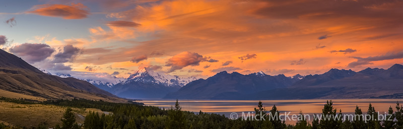 Mt Cook Sunset Panorama