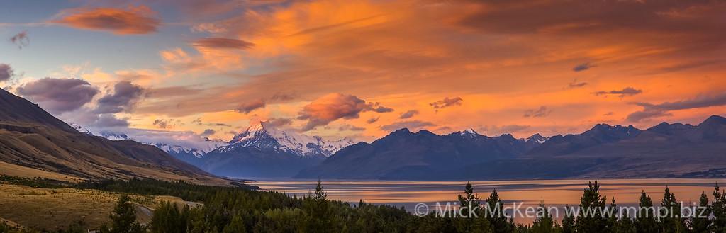 Mt Cook Sunset Panorama