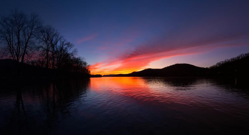 Ohio River Sunset PC 3688-92 P