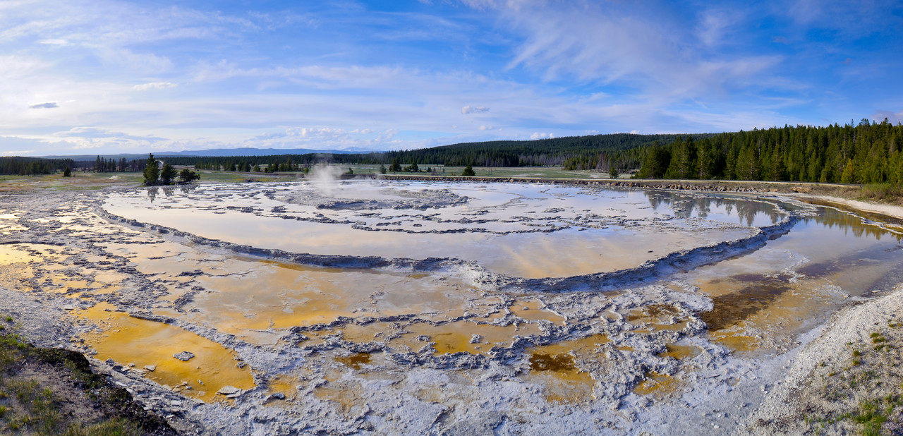 Great Fountain Geyser Panorama