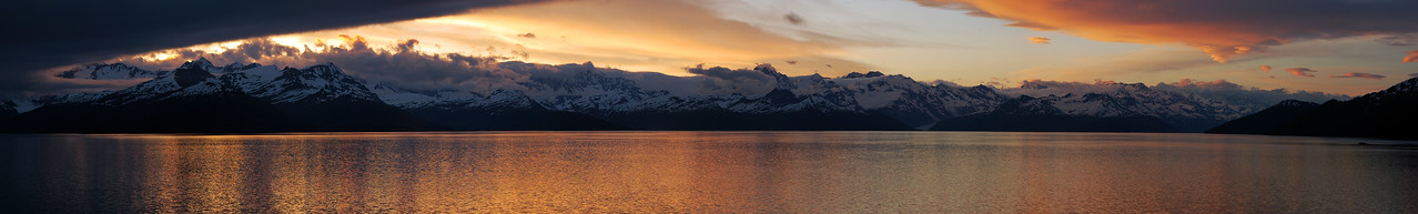 """Alaskan Sunset"" - South of Whittier, Alaska"