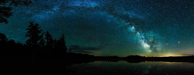 Milky Way over Clark Lake in Sylvania Wilderness 01