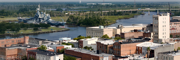 used in panarama pic of Wilmington Down Town