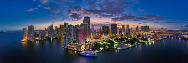 Downtown Miami Aerial Panoramic