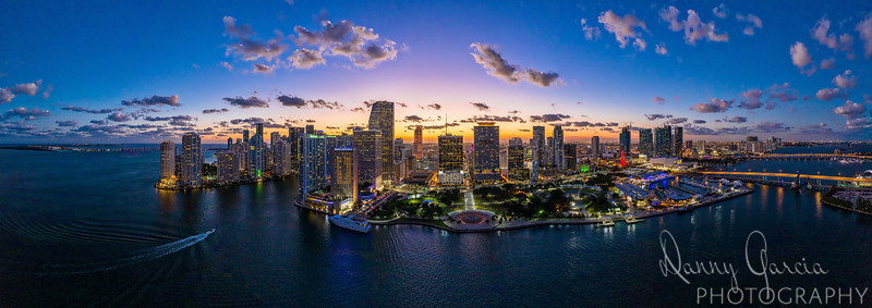 Aerial Panoramic of Miami