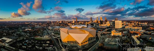 Downtown Atlanta Winter 2020 Skyline