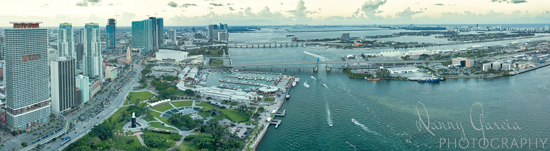 Aerial Panoramic of Miami, Florida