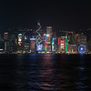 Hong Kong's Victoria Harbor Night Panoramic