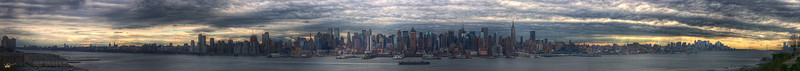Manhattan Panoramic from New Jersey, New York