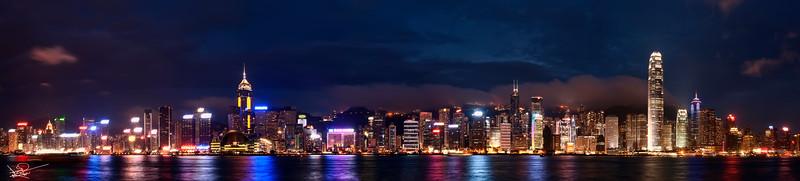 Victoria Harbour Panoramic, Hong Kong, China