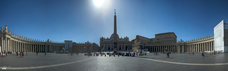 St Peters Square Panoramic, Rome