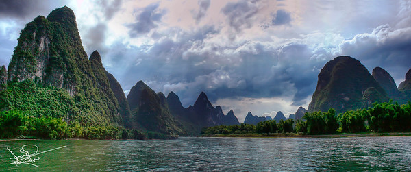 Sailing on the Li River, Yangshou, China