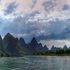 Sailing on the Li River, Yangshou, China