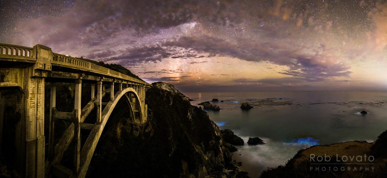 Rocky Creek Bridge, Big Sur, California