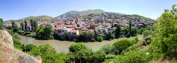 Panoramic View of River Vardar