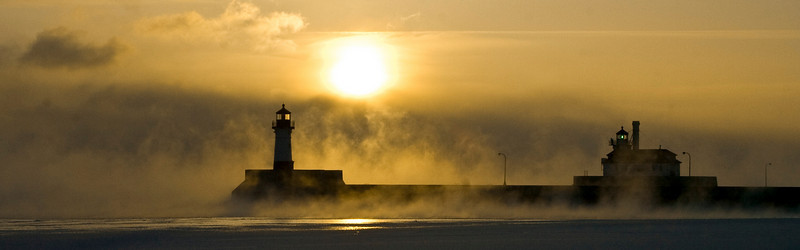 Harbor Winter Sunrise, Duluth, Minnesota