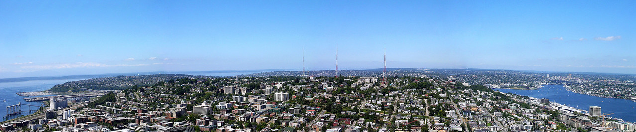View from the top of the Space Needle, Seattle.