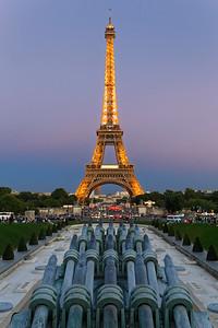 Fontaine du Jardins du Trocadéro & Eiffel Tower, Paris (1)