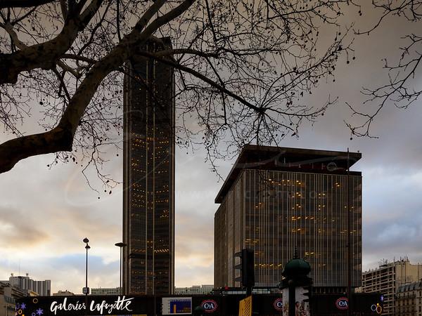 La tour Montparnasse et le centre commerciale