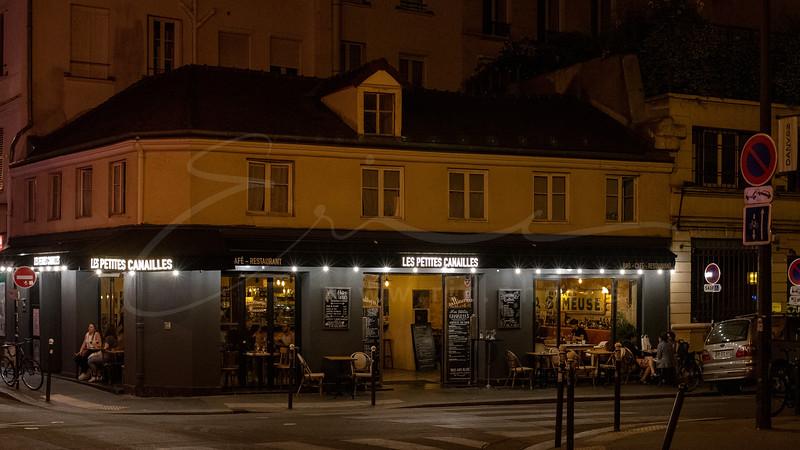 le soir dans la  ville   evening in the city