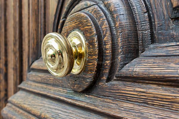 un détail de la porte
