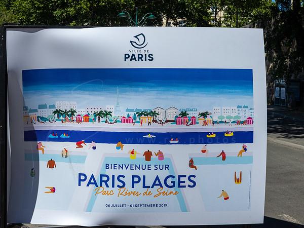 Paris Plage le long de la Seine