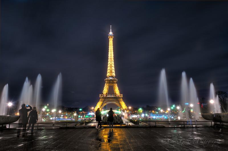 Eiffel Tower From Trocadero Fountains