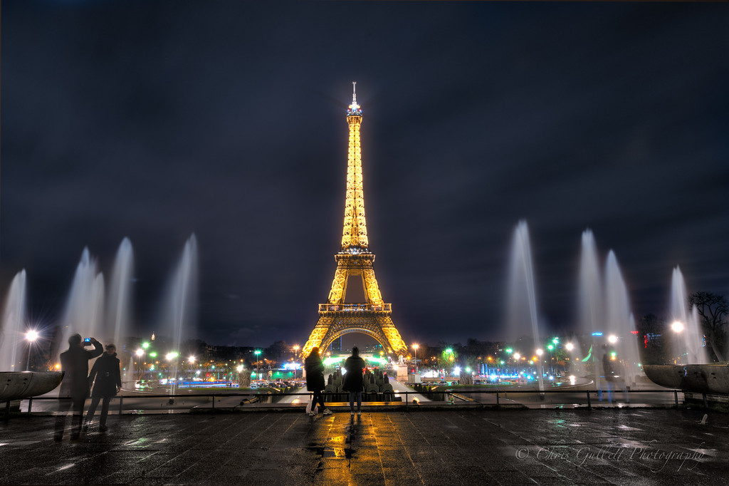 Eiffel Tower From Trocadero Fountains