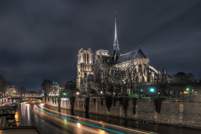 Notre Dame Over The Seine
