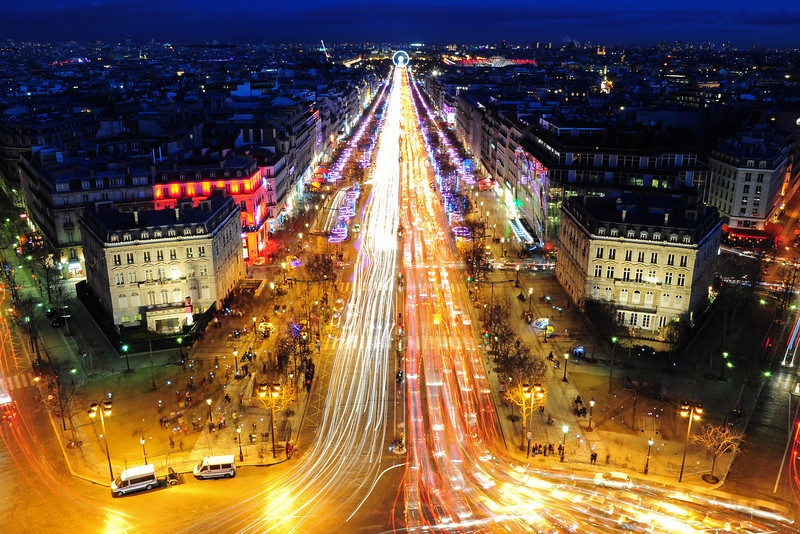 Holiday Lights on the Champs-Elysées