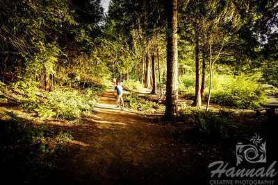 Biking and hiking trail at Henry Hagg Lake & Scoggins Valley Park in Oregon  © Copyright Hannah Pastrana Prieto